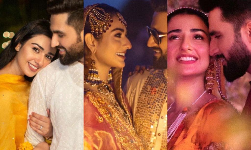 Sarah Khan and Falak Shabir wedding photos